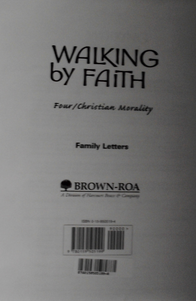 Walking By Faith: Grade 4: Family Letters