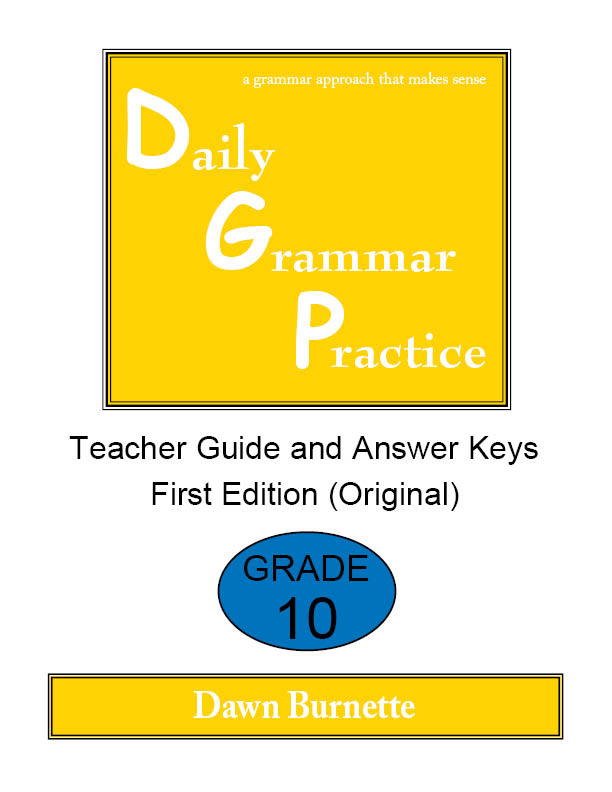 Daily Grammar Practice Teacher Guide and Answer Keys Grade 10