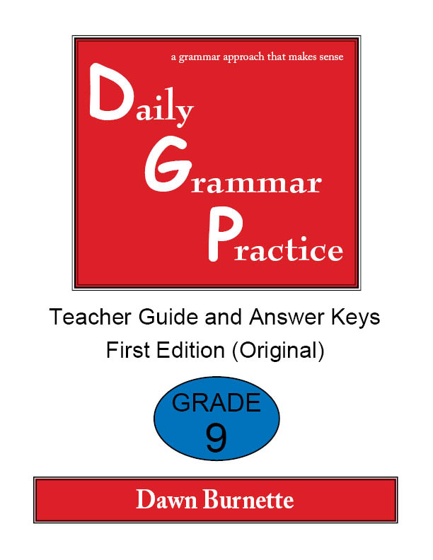 Daily Grammar Practice Teacher Guide and Answer Keys Grade 9