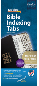 Bible Tabs Large Print-Gold (Pack of 10)