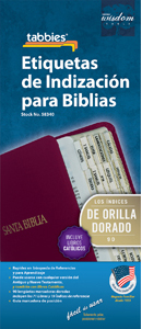 Spanish Bible Tabs-Gold (Pack of 10)