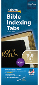 Bible Tabs-Gold w/Black Type (Pack of 10)