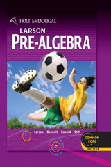 Holt McDougal Larson Pre-Algebra Common Core eBook (1 Year Access)