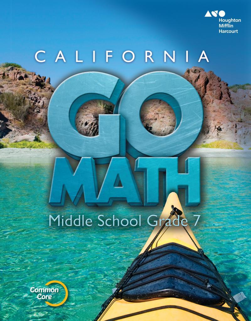 Go Math! CALIFORNIA Grade 7 Interactive ebook (1 Year Access)