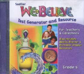 We Believe: Grade 5: We Meet Jesus In The Sacraments: Test Gener