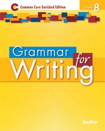 Grammar for Writing, Grade 8 Common Core Enriched Edition ebook (1 Year Access)
