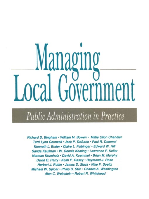 Managing Local Government