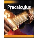 Precalculus with Trigonometry: Concepts and Applications Student 1 Year License