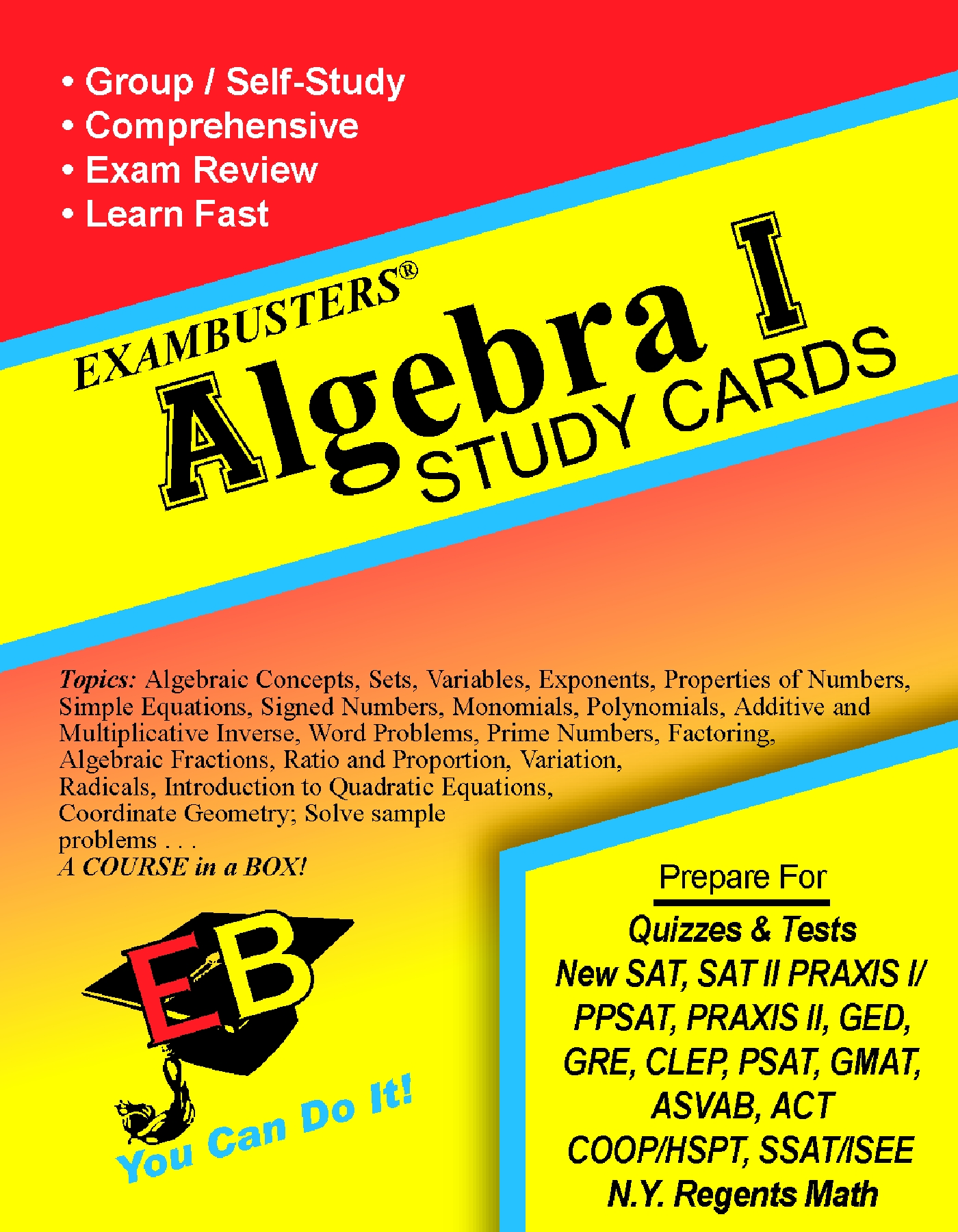 Introduction to Algebra Flash Cards