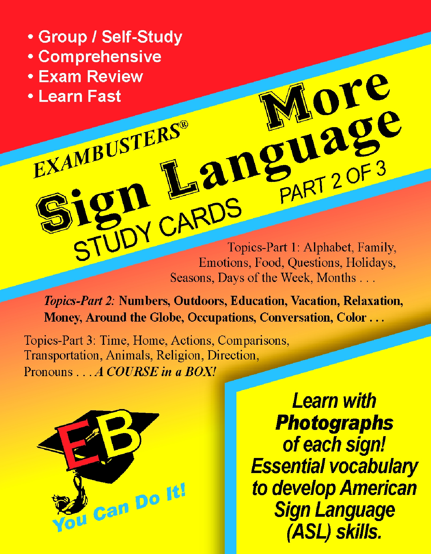 More Sign Language Flash Cards: Part 2 of 3
