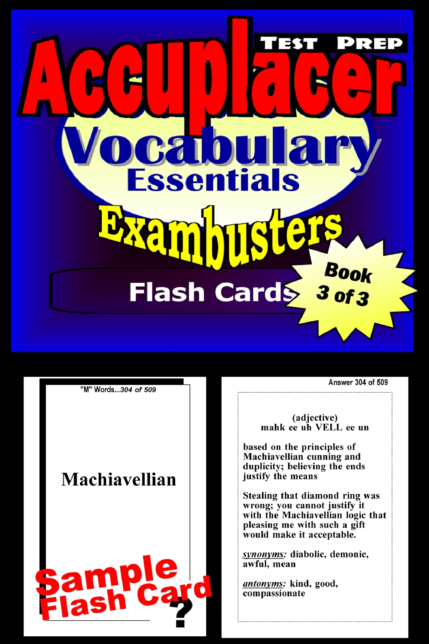 Accuplacer Test Prep Vocabulary Review--Exambusters Flash Cards--Workbook 3 of 3: Accuplacer Exam Study Guide