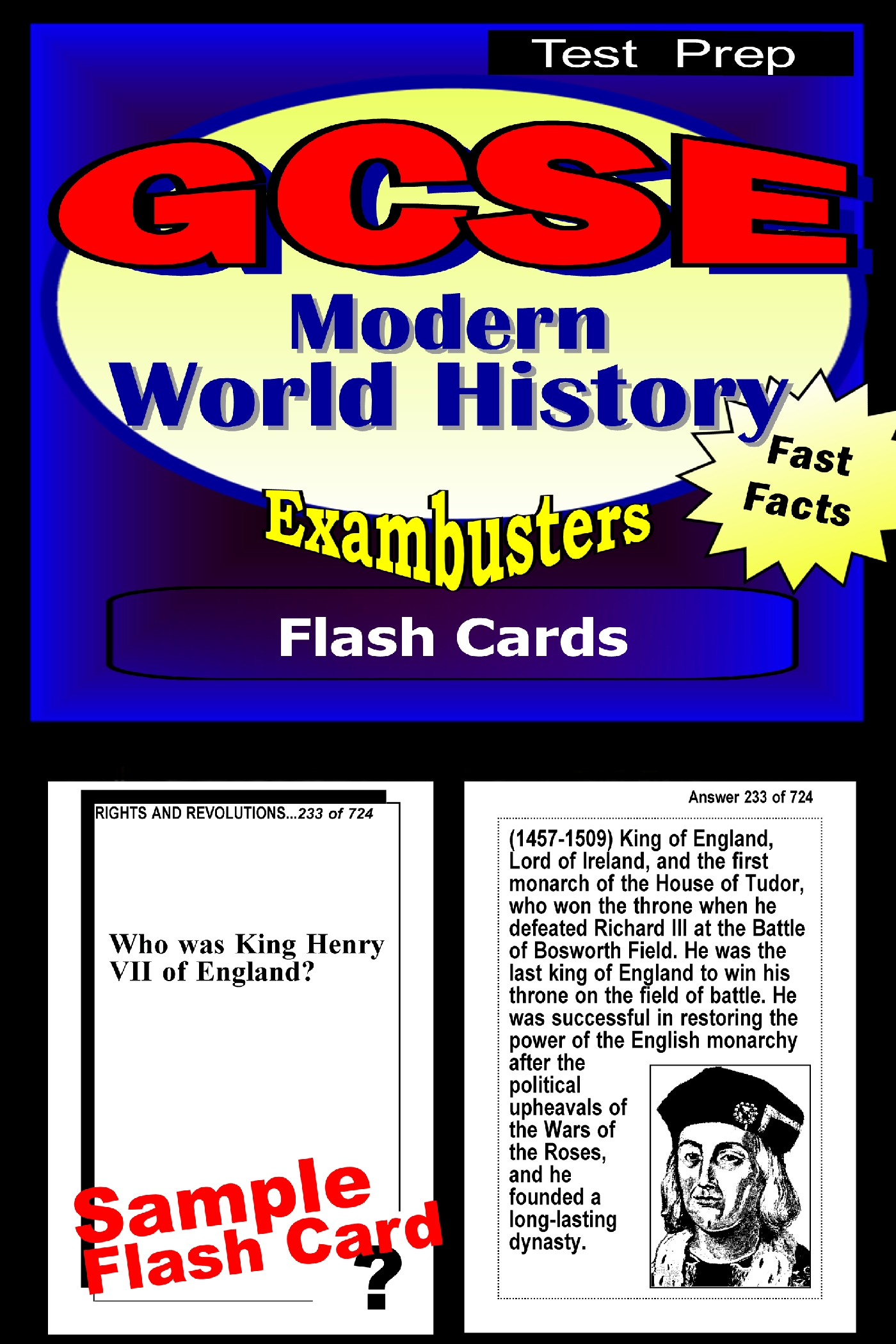GCSE Modern World History Test Prep Review--Exambusters Flash Cards: GCSE Exam Study Guide