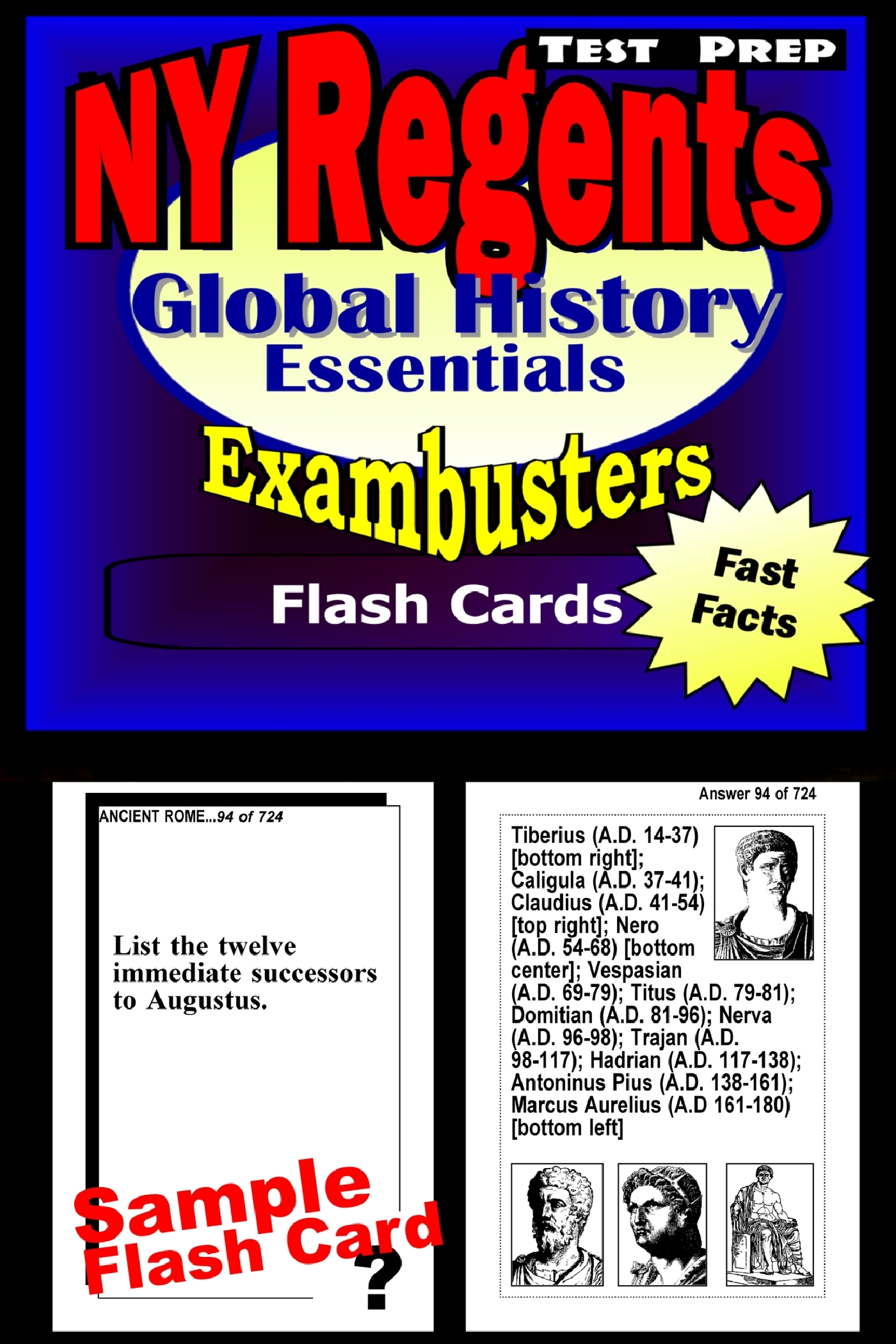 NY Regents Global History Test Prep Review--Exambusters Flashcards: New York Regents Exam Study Guide