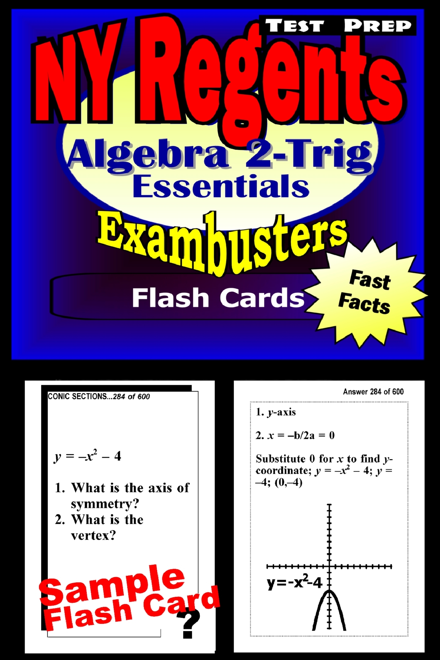 NY Regents Algebra 2-Trigonometry Test Prep Review--Exambusters Flashcards: New York Regents Exam Study Guide