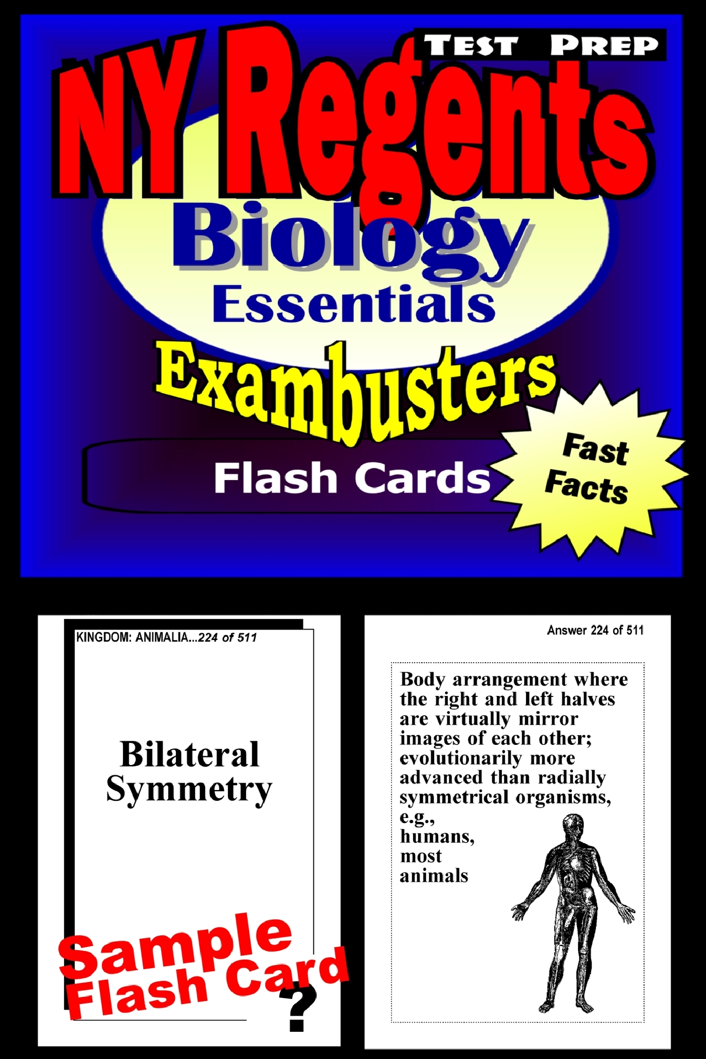 NY Regents Biology-Living Environment Test Prep Review--Exambusters Flashcards: New York Regents Exam Study Guide