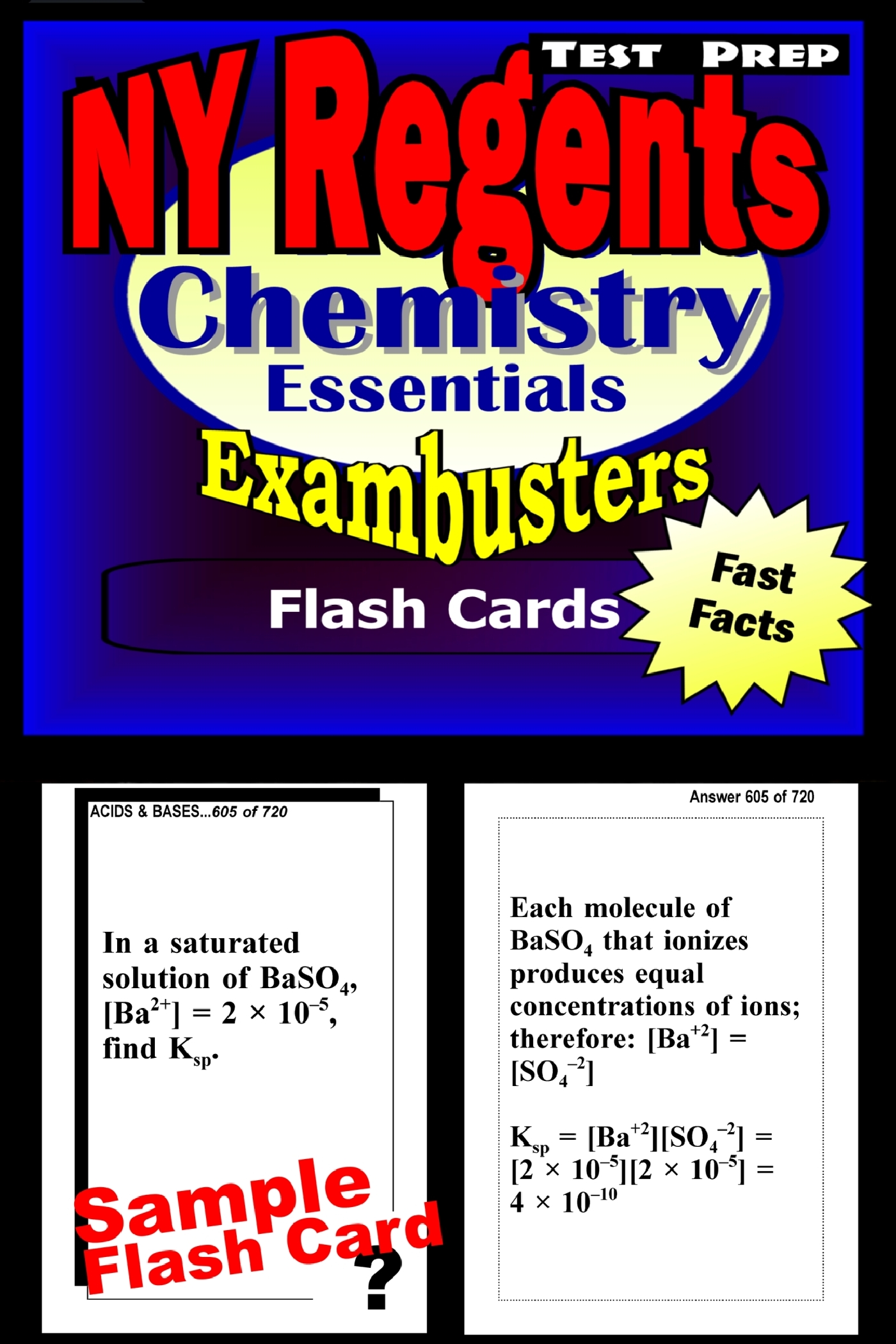 NY Regents Chemistry Test Prep Review--Exambusters Flashcards: New York Regents Exam Study Guide
