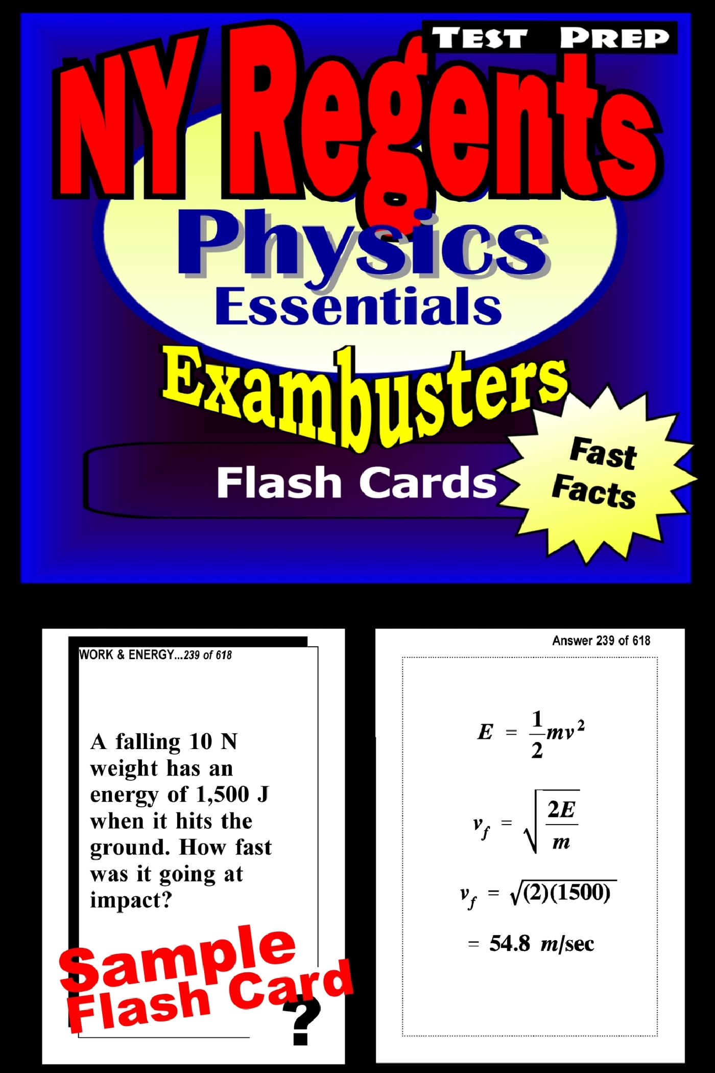 NY Regents Physics Test Prep Review--Exambusters Flashcards: New York Regents Exam Study Guide