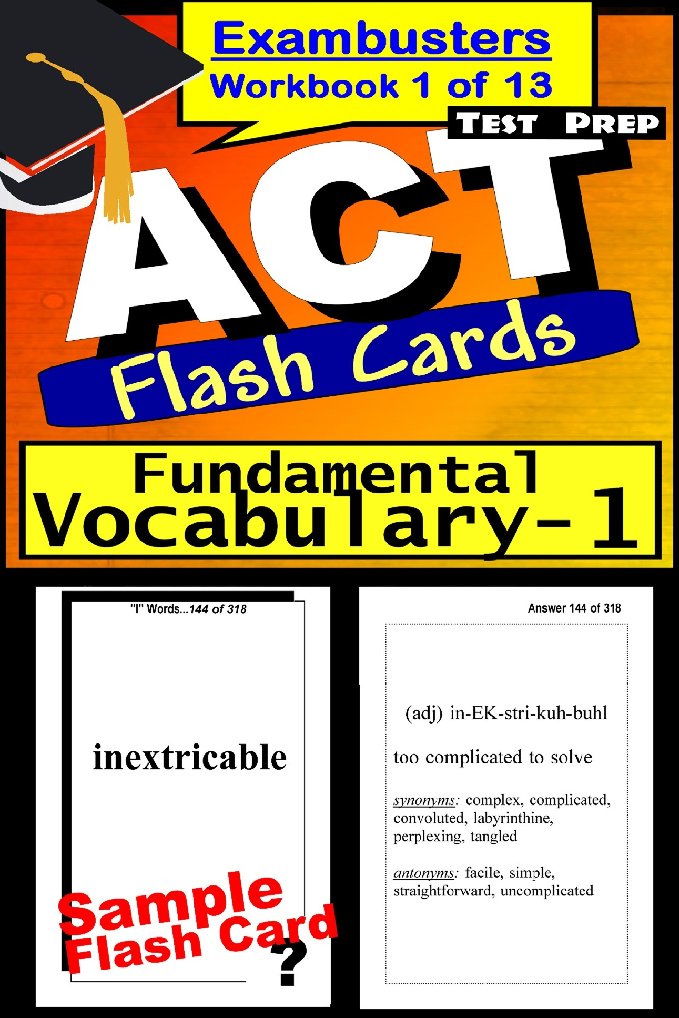 ACT Test Prep Essential Vocabulary Review--Exambusters Flash Cards--Workbook 1 of 13: ACT Exam Study Guide