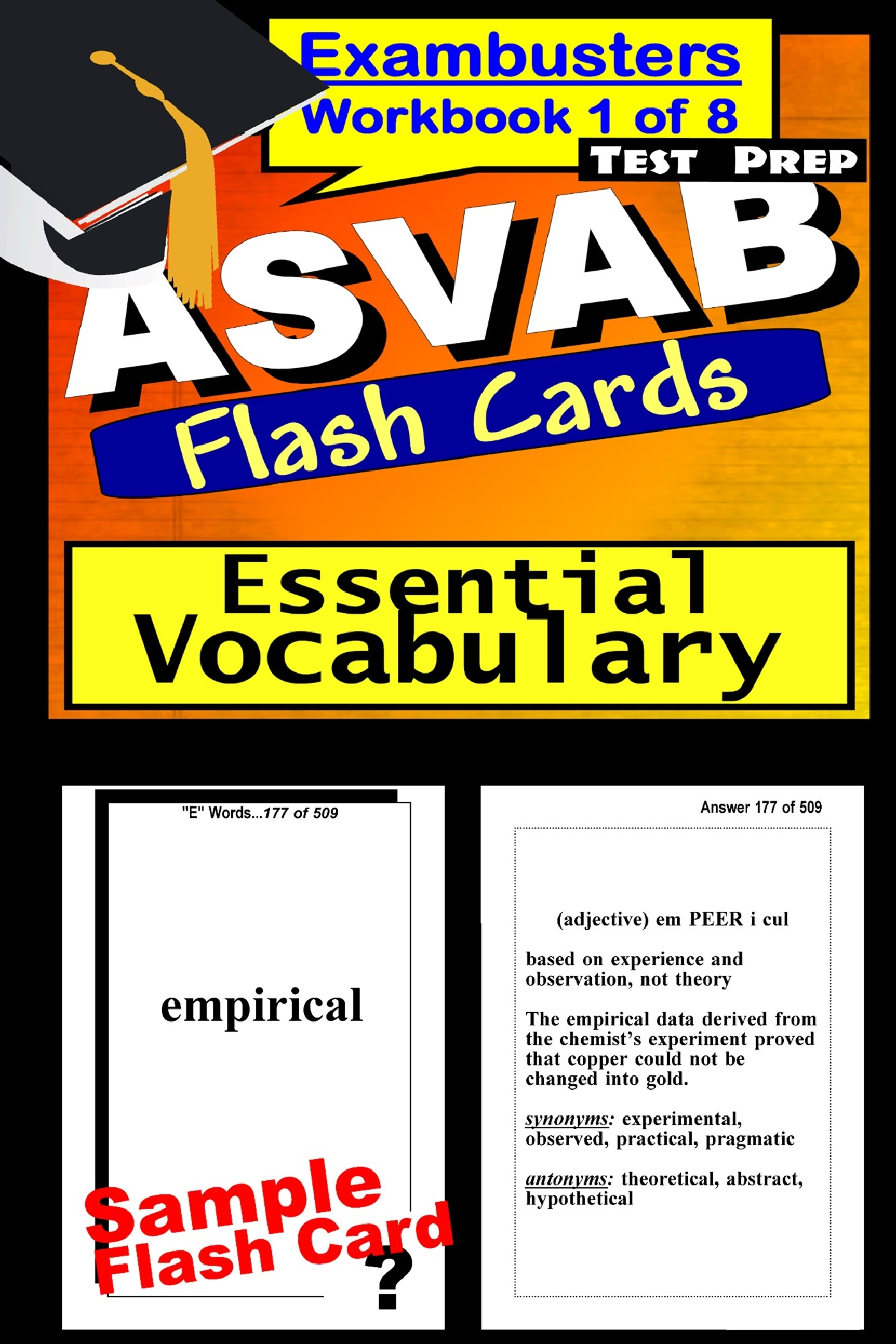 ASVAB Test Prep Essential Vocabulary Review--Exambusters Flash Cards--Workbook 1 of 8: ASVAB Exam Study Guide