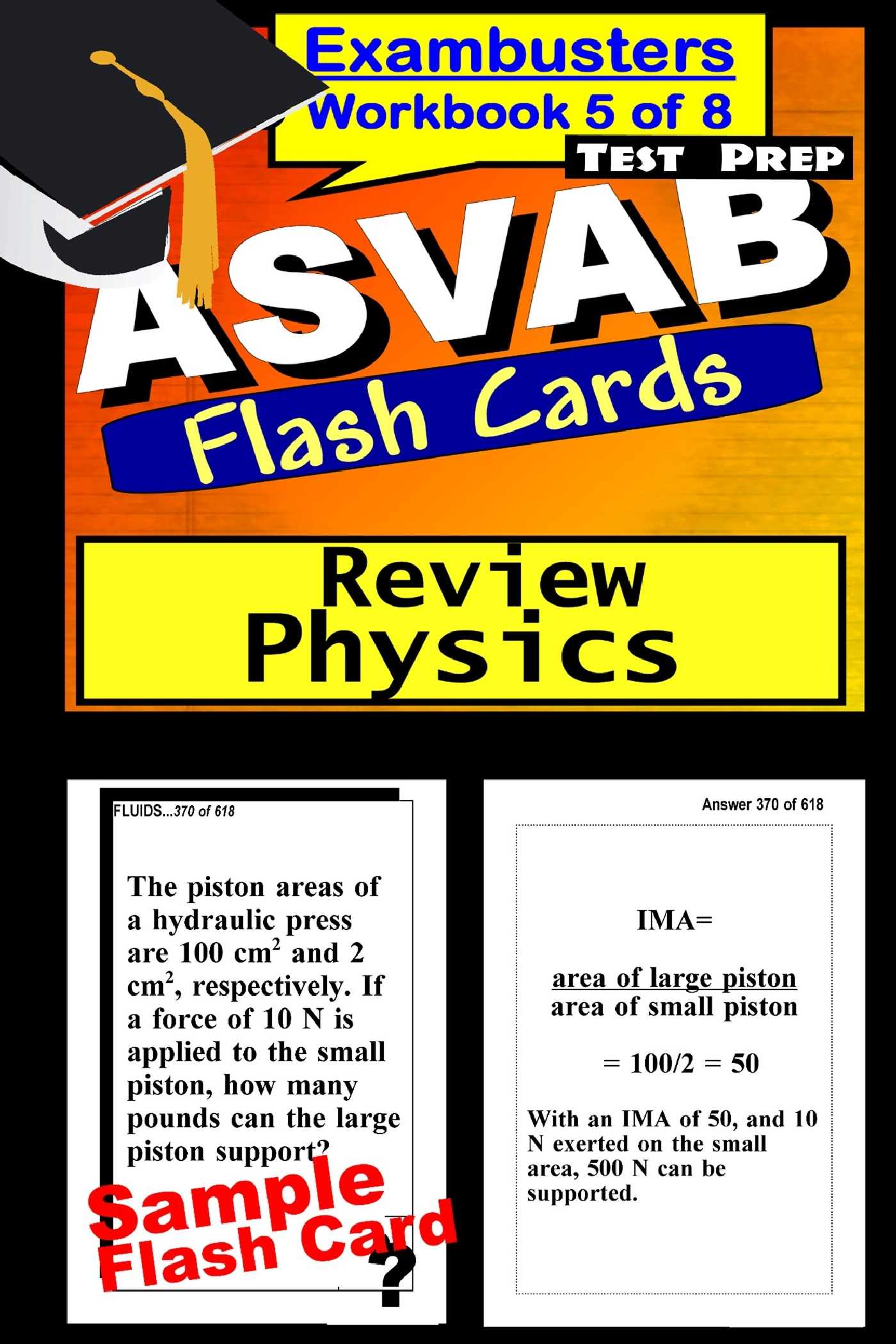 ASVAB Test Prep Physics Review--Exambusters Flash Cards--Workbook 5 of 8: ASVAB Exam Study Guide