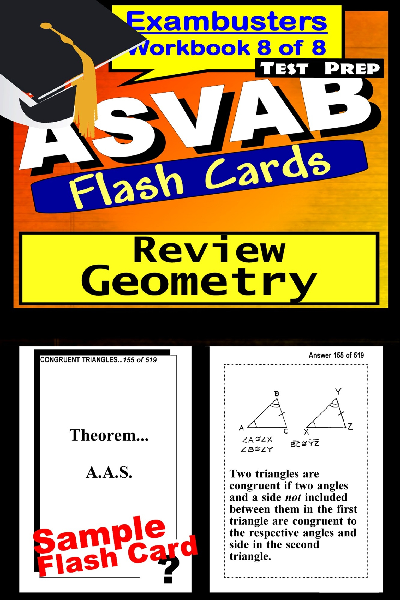 ASVAB Test Prep Geometry Review--Exambusters Flash Cards--Workbook 8 of 8: ASVAB Exam Study Guide