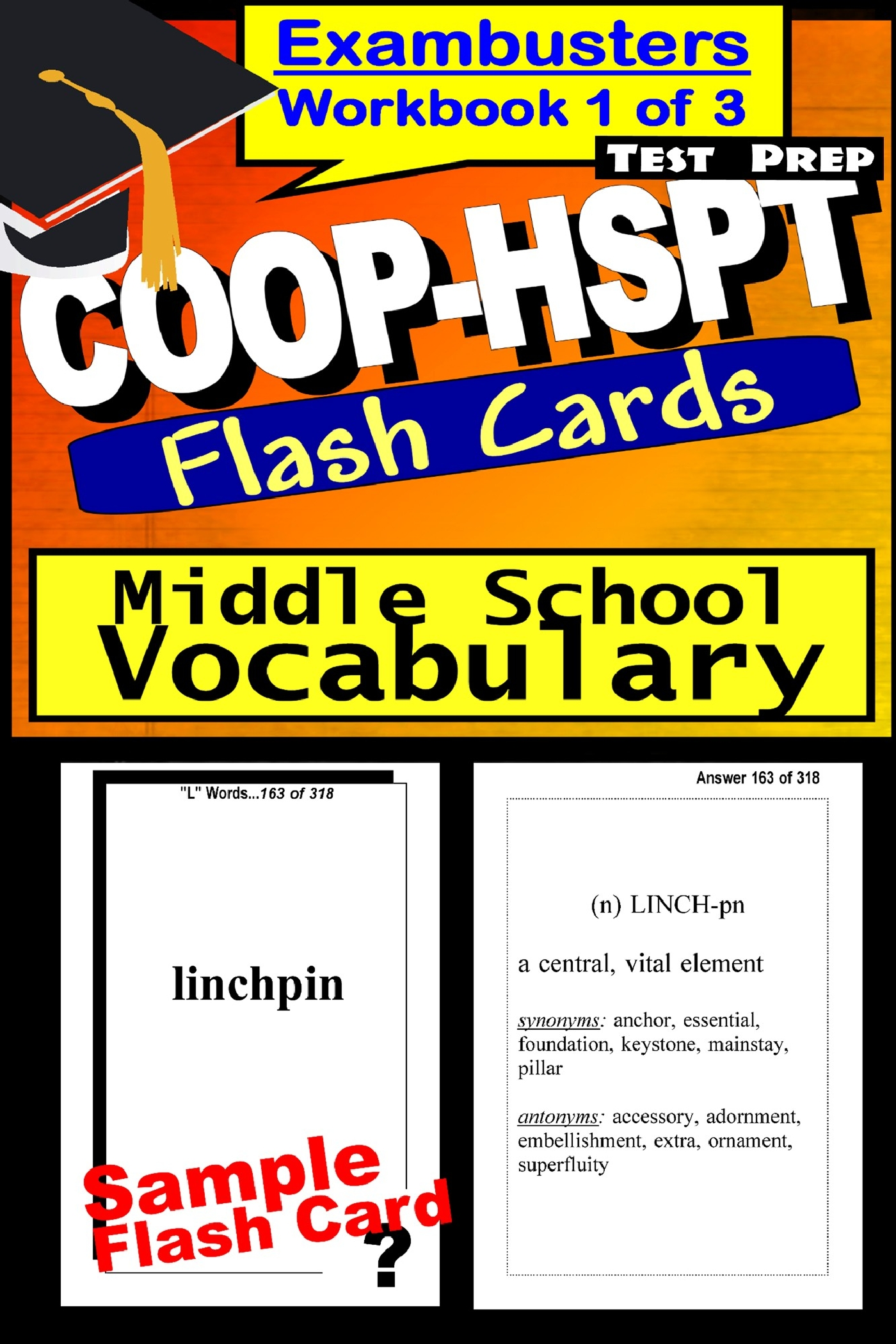 COOP-HSPT Test Prep Essential Vocabulary Review--Exambusters Flash Cards--Workbook 1 of 3: COOP Exam Study Guide