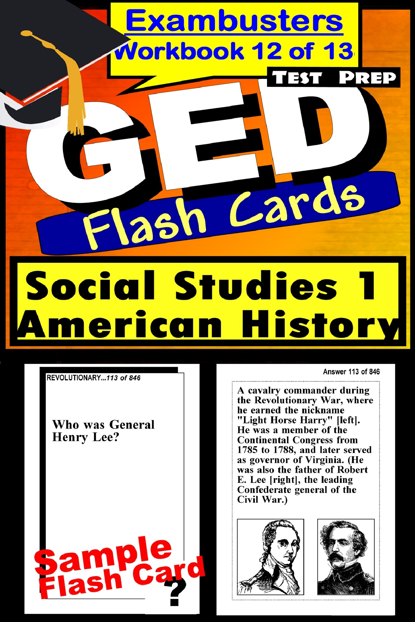 GED Test Prep Social Studies 1: US History Review--Exambusters Flash Cards--Workbook 12 of 13: GED Exam Study Guide