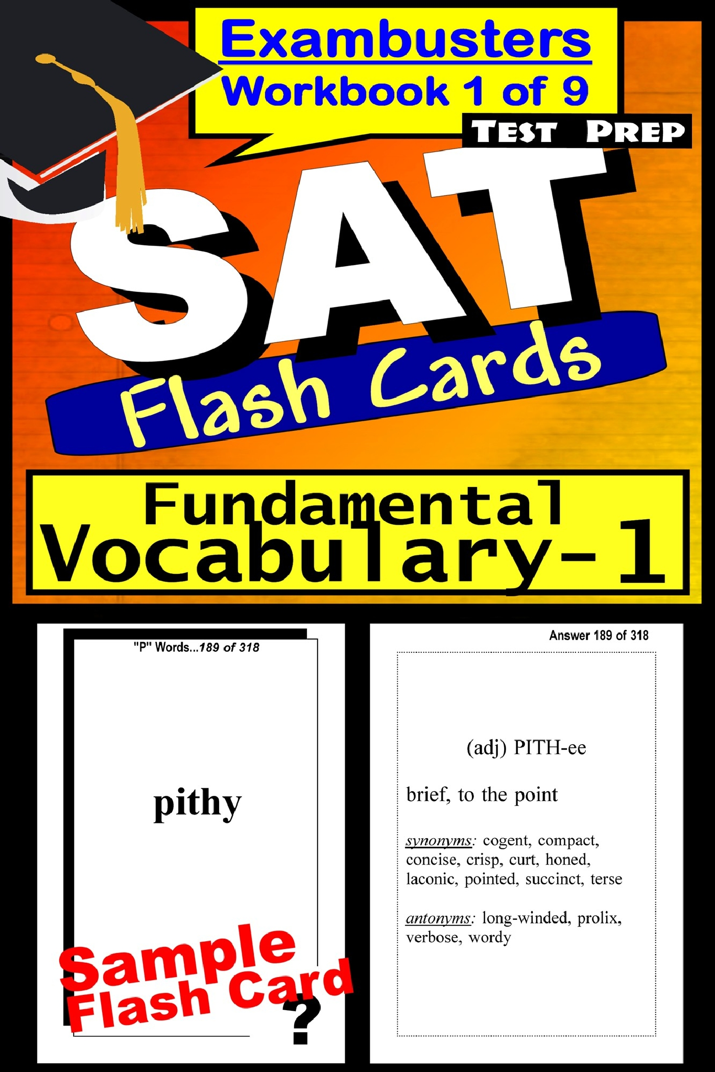 SAT Test Prep Essential Vocabulary 1 Review--Exambusters Flash Cards--Workbook 1 of 9: SAT Exam Study Guide
