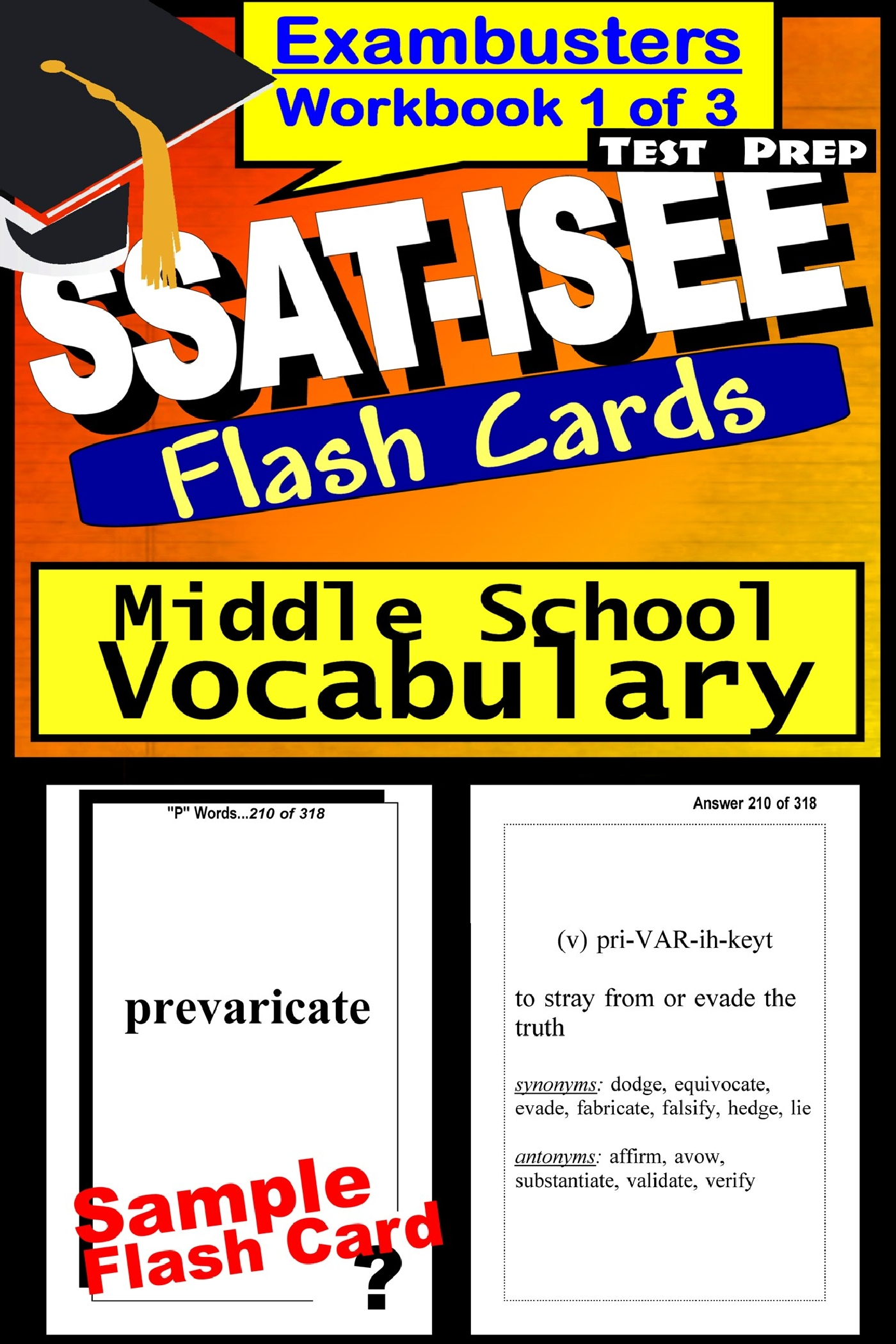 SSAT-ISEE Test Prep Essential Vocabulary Review--Exambusters Flash Cards--Workbook 1 of 3: SSAT Exam Study Guide