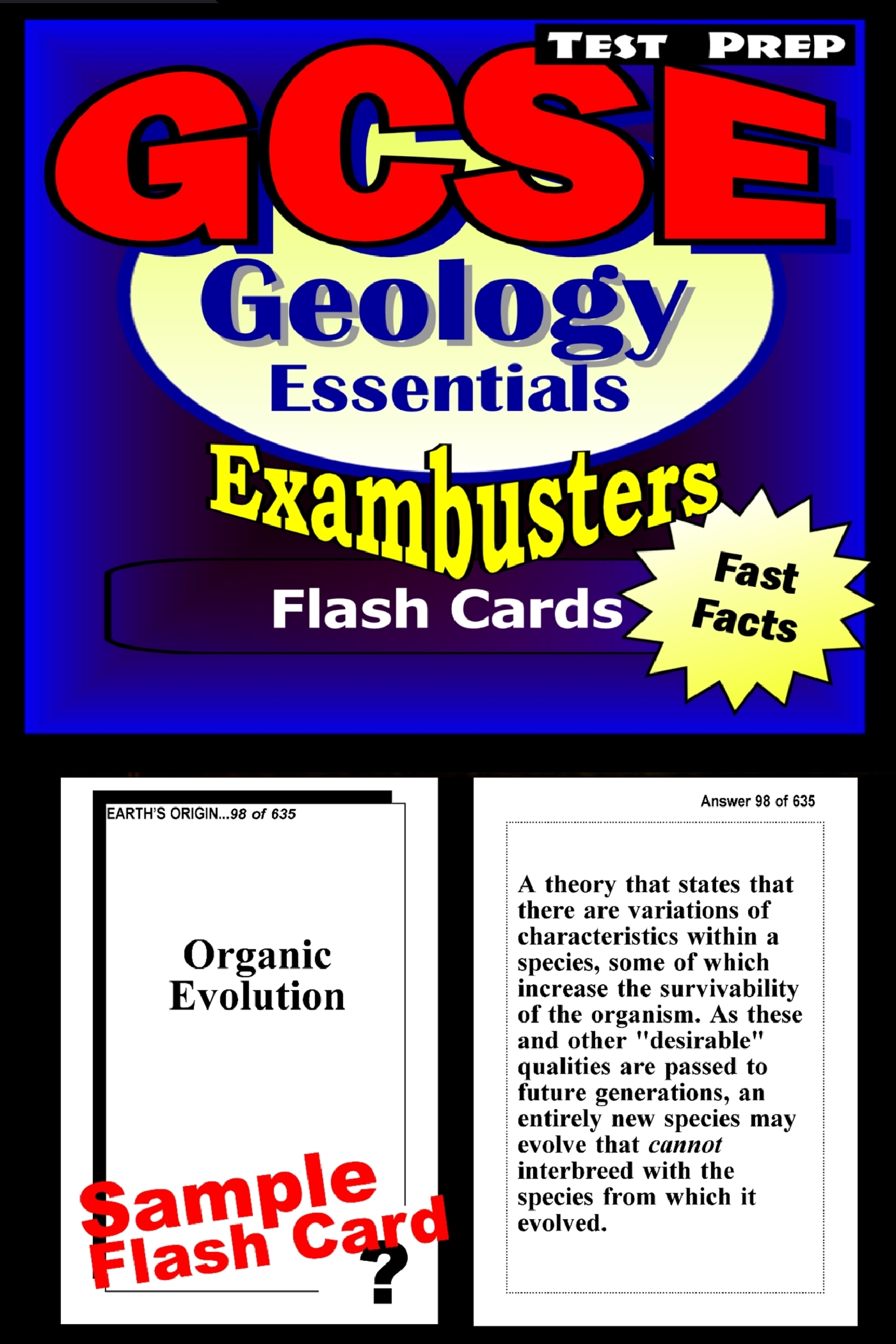 GCSE Geology Test Prep Review--Exambusters Flash Cards: GCSE Exam Study Guide