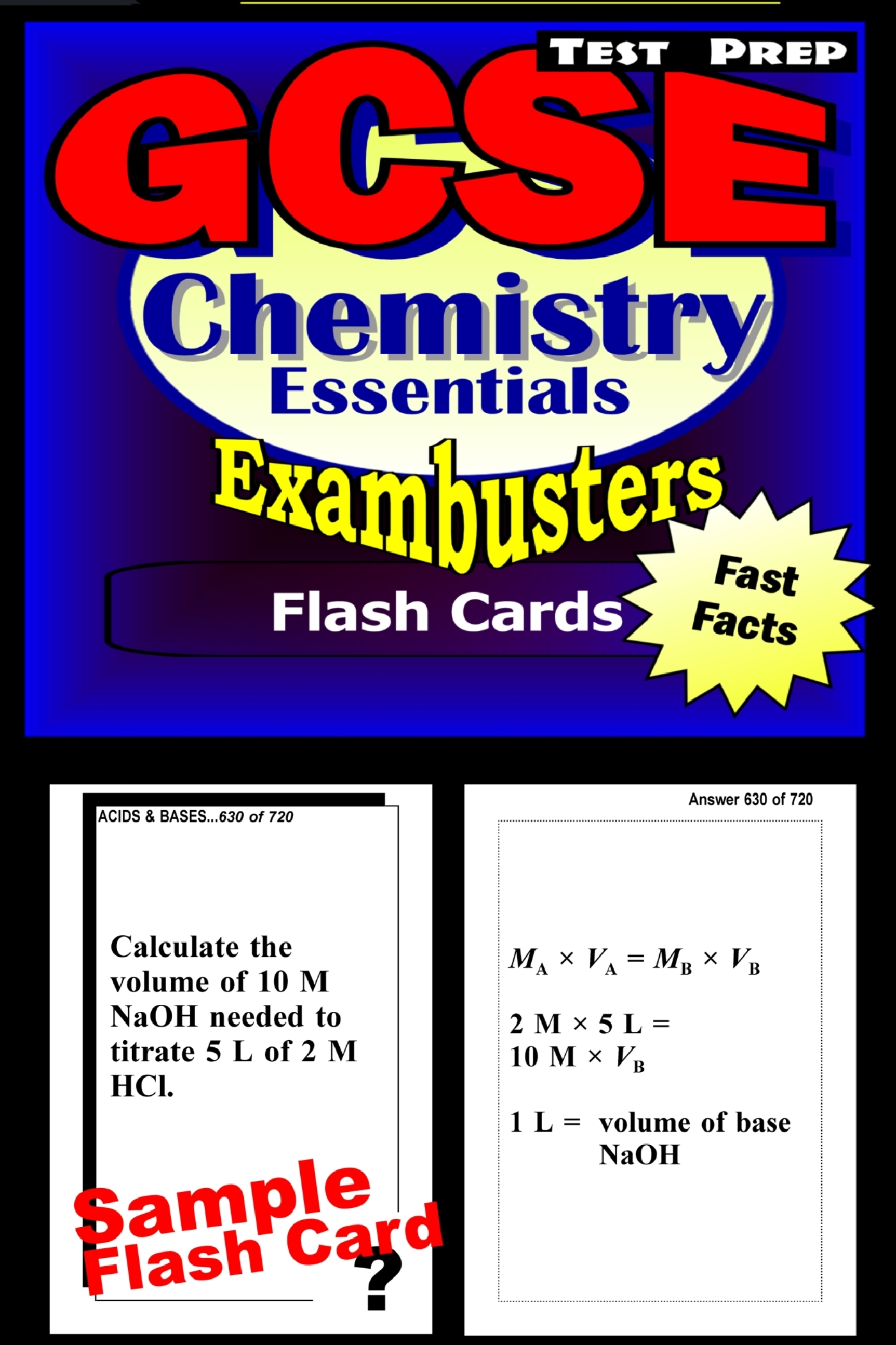 GCSE Chemistry Test Prep Review--Exambusters Flash Cards: GCSE Exam Study Guide