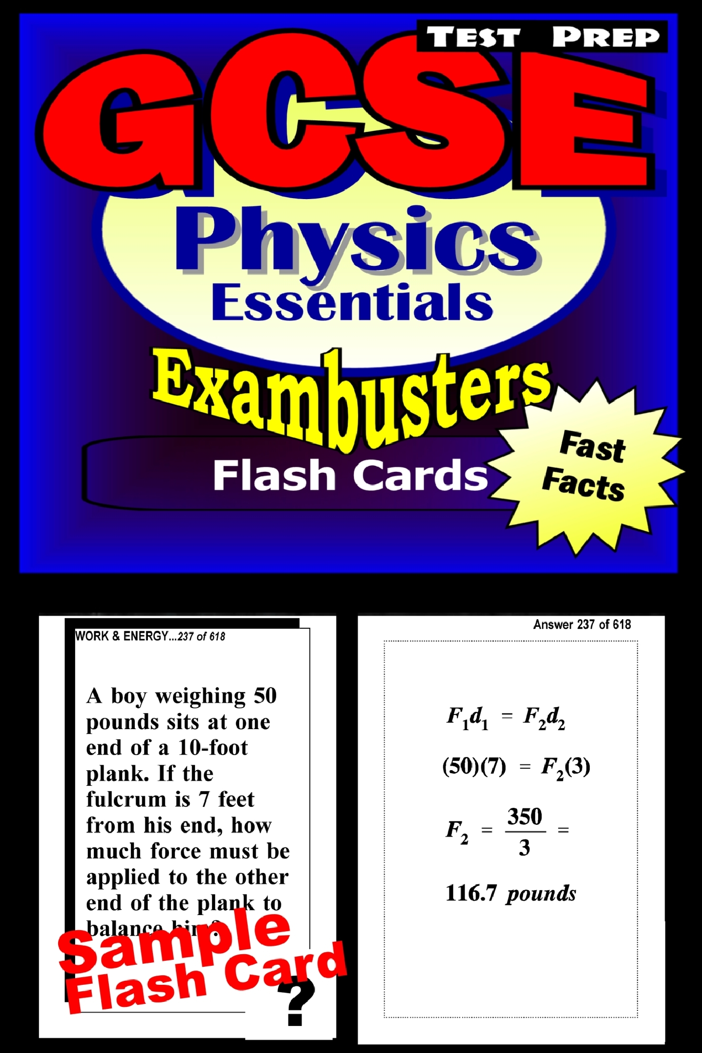 GCSE Physics Test Prep Review--Exambusters Flash Cards: GCSE Exam Study Guide