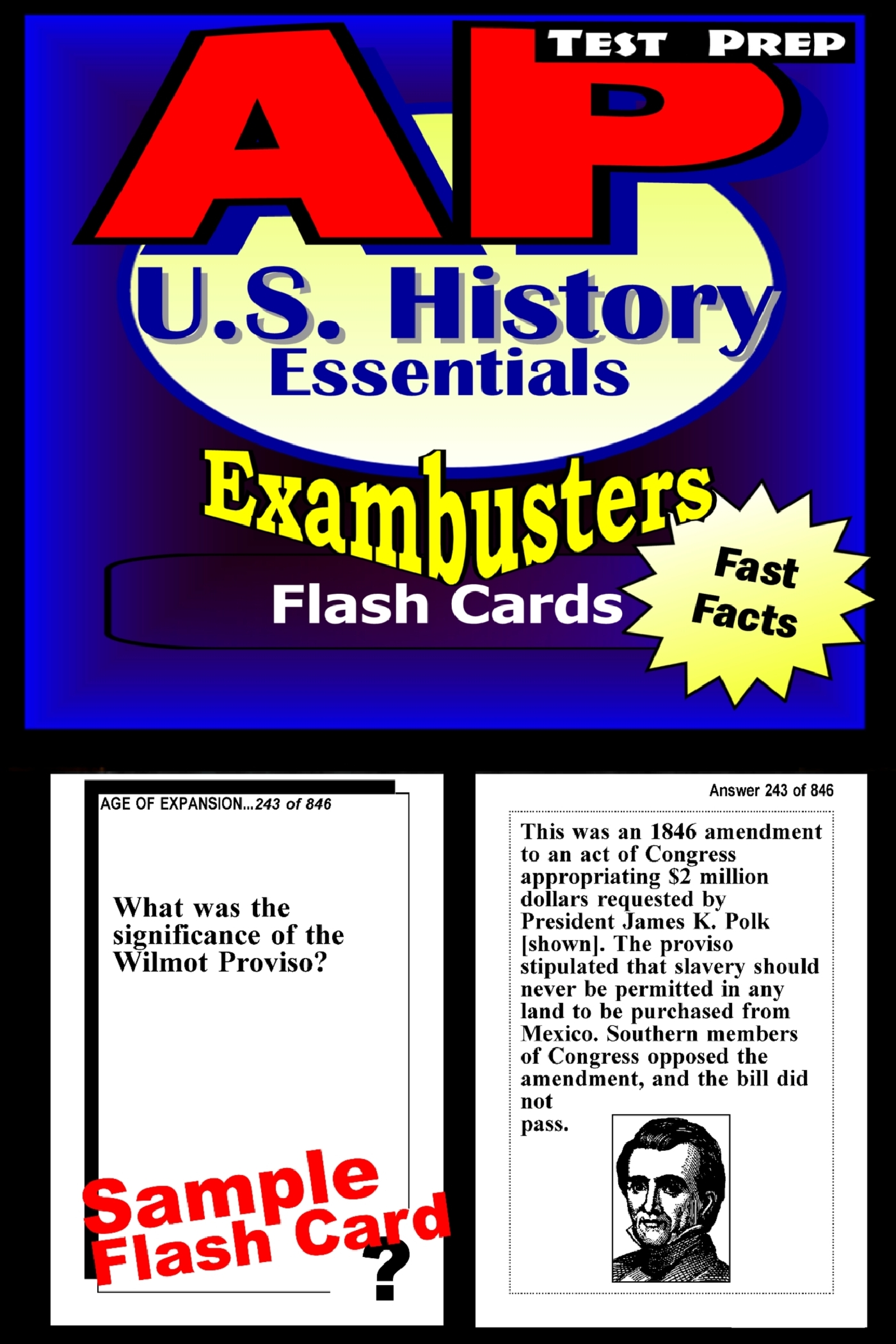 AP US History Test Prep Review--Exambusters Flash Cards: AP Exam Study Guide
