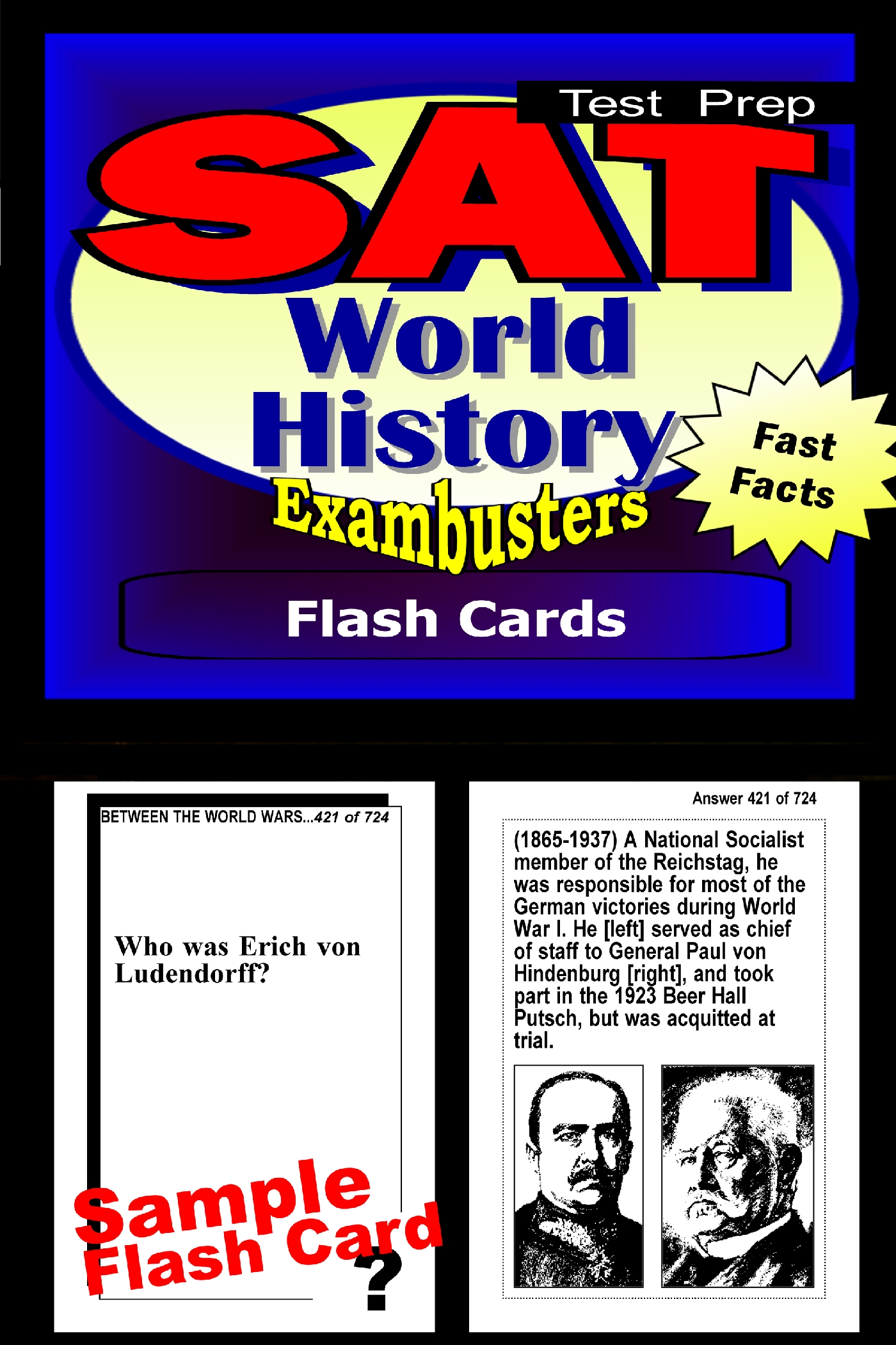 SAT World History Test Prep Review--Exambusters Flash Cards: SAT II Exam Study Guide
