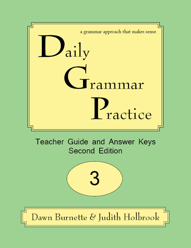 Daily Grammar Practice Teacher Guide and Answer Keys 2nd Edition 3