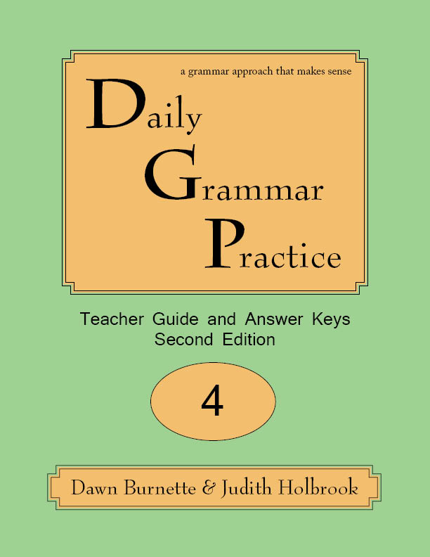 Daily Grammar Practice Teacher Guide and Answer Keys 2nd Edition 4