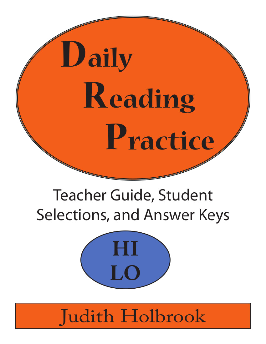 Daily Reading Practice Teacher Guide Student Selections Answer Keys Hi-Lo Edition